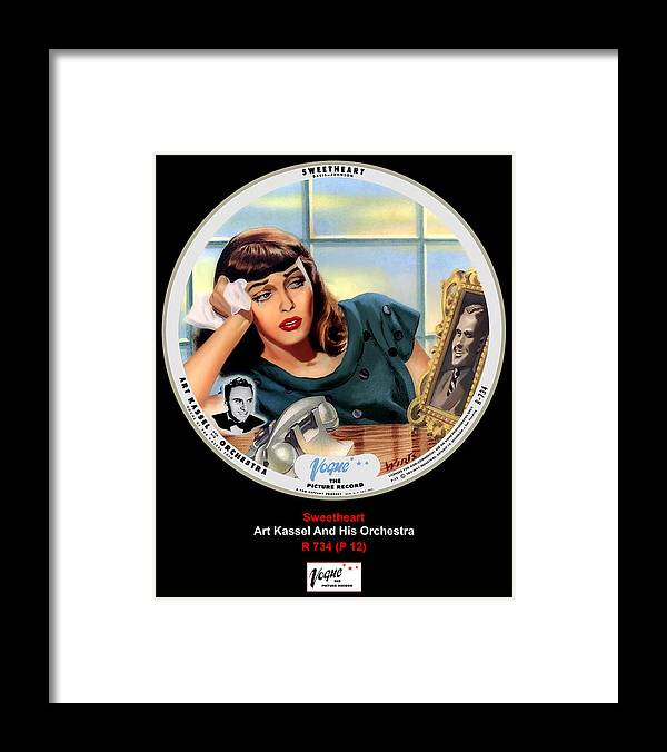 Vogue Picture Record Framed Print featuring the digital art Vogue Record Art - R 734 - P 12 by John Robert Beck