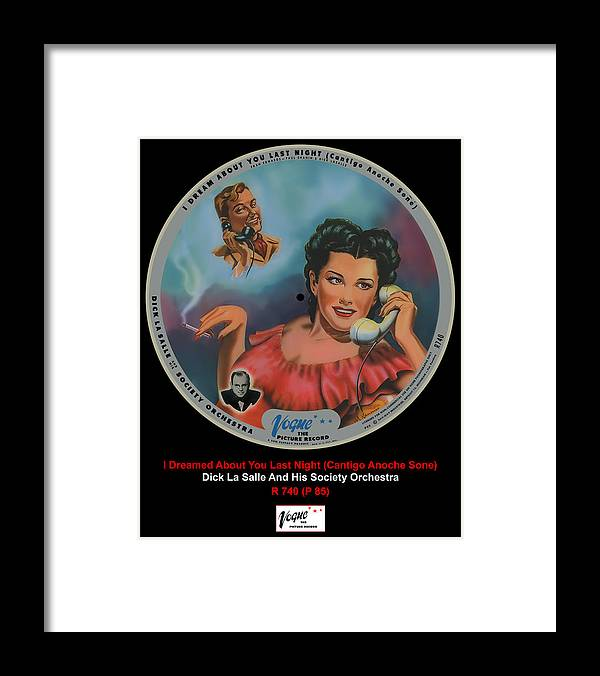 Vogue Picture Record Framed Print featuring the digital art Vogue Record Art - R 740 - P 85 by John Robert Beck