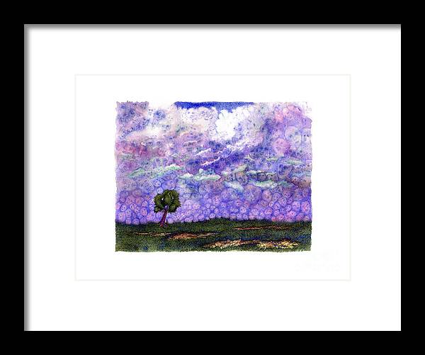 Clouds Framed Print featuring the painting Voices in The Sky by Karen Wheeler