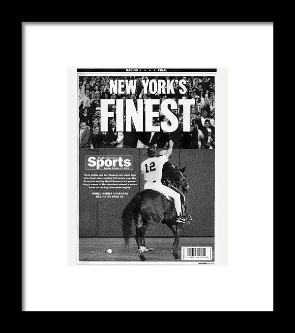 Horse Framed Print featuring the photograph Wade Boggs by New York Daily News Archive
