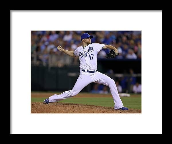 American League Baseball Framed Print featuring the photograph Wade Davis by Ed Zurga