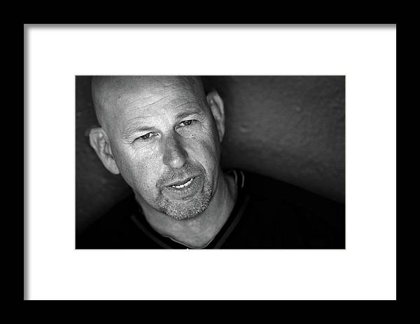 The Media Framed Print featuring the photograph Walt Weiss by Doug Pensinger