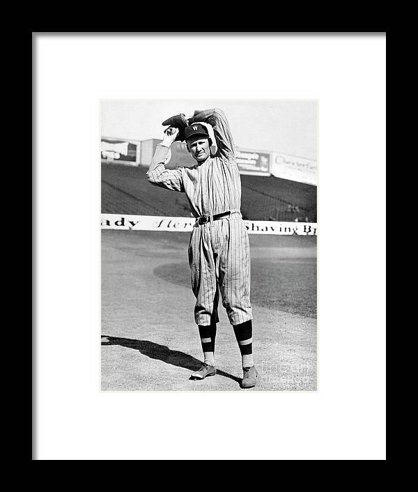 American League Baseball Framed Print featuring the photograph Walter Johnson by National Baseball Hall Of Fame Library