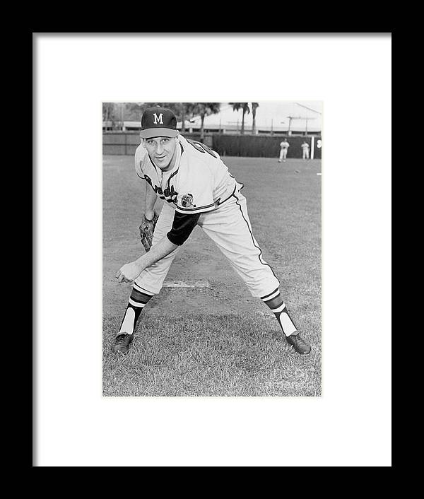 1950-1959 Framed Print featuring the photograph Warren Spahn by National Baseball Hall Of Fame Library