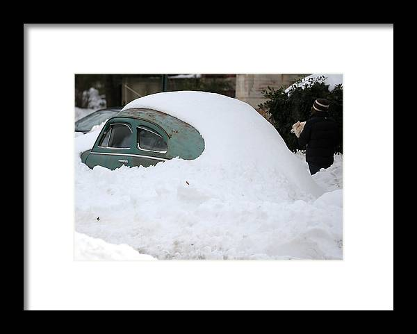 Snow Framed Print featuring the photograph Washington, D.C. Area Continues To Dig Out From Historic Snow Storm by Mark Wilson