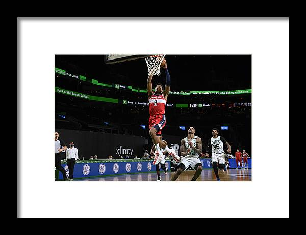 Nba Pro Basketball Framed Print featuring the photograph Washington Wizards v Boston Celtics by Brian Babineau