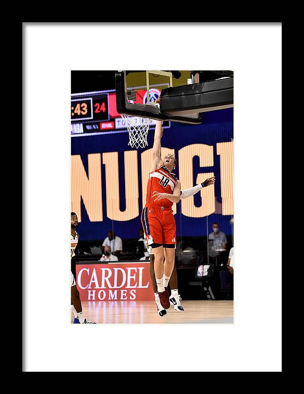 Nba Pro Basketball Framed Print featuring the photograph Washington Wizards v Denver Nuggets by David Dow