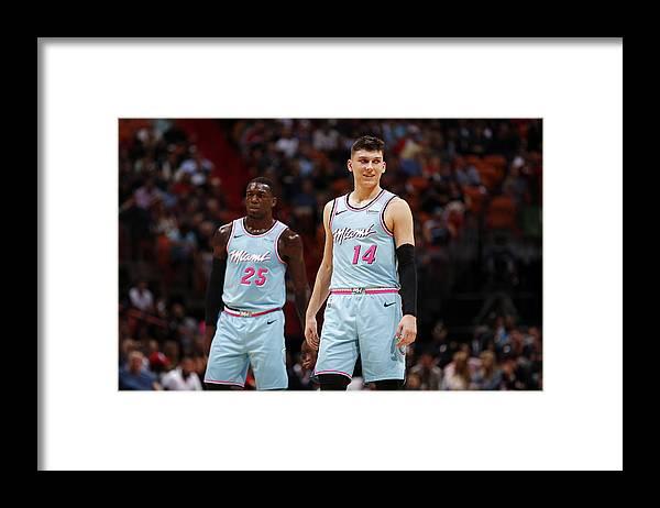 Tyler Herro Framed Print featuring the photograph Washington Wizards v Miami Heat by Issac Baldizon