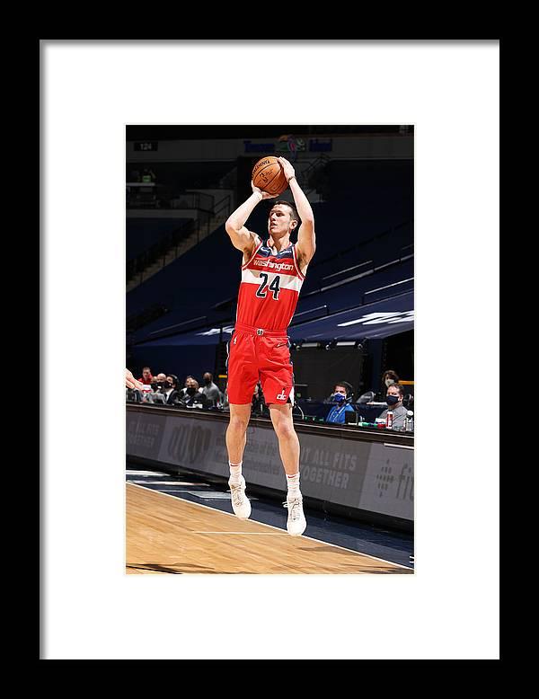 Nba Pro Basketball Framed Print featuring the photograph Washington Wizards v Minnesota Timberwolves by David Sherman