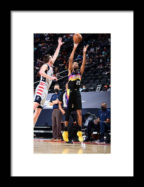 Nba Pro Basketball Framed Print featuring the photograph Washington Wizards v Phoenix Suns by Michael Gonzales
