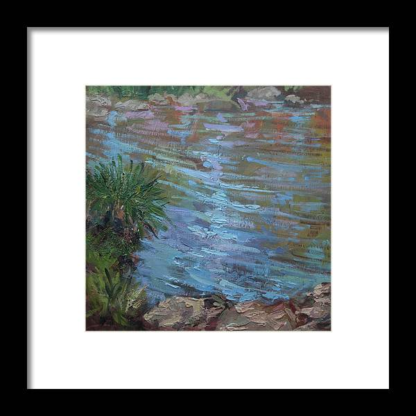 Water Ponds Framed Print featuring the painting Water Reflections by Betty Jean Billups