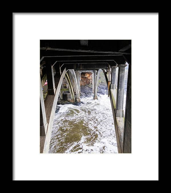 Water Framed Print featuring the photograph Water Under the Bridge by Catherine Avilez