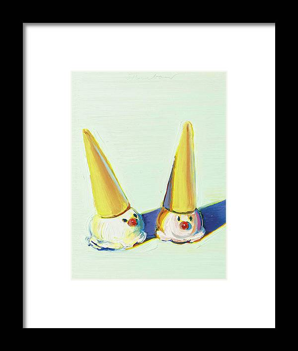 Wayne Thiebaud Two Jolly Cones by Dan Hill Galleries