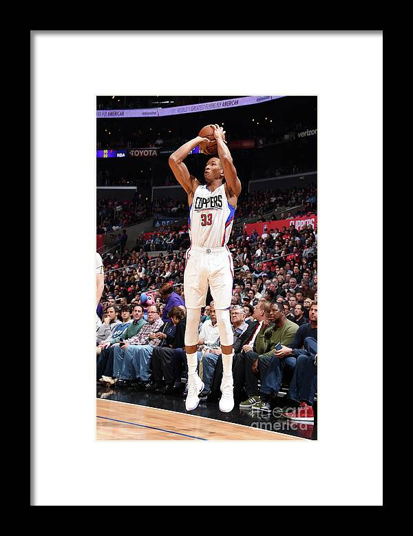 Nba Pro Basketball Framed Print featuring the photograph Wesley Johnson by Andrew D. Bernstein