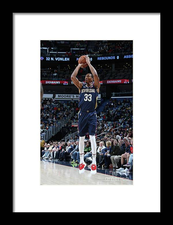 Smoothie King Center Framed Print featuring the photograph Wesley Johnson by Layne Murdoch Jr.