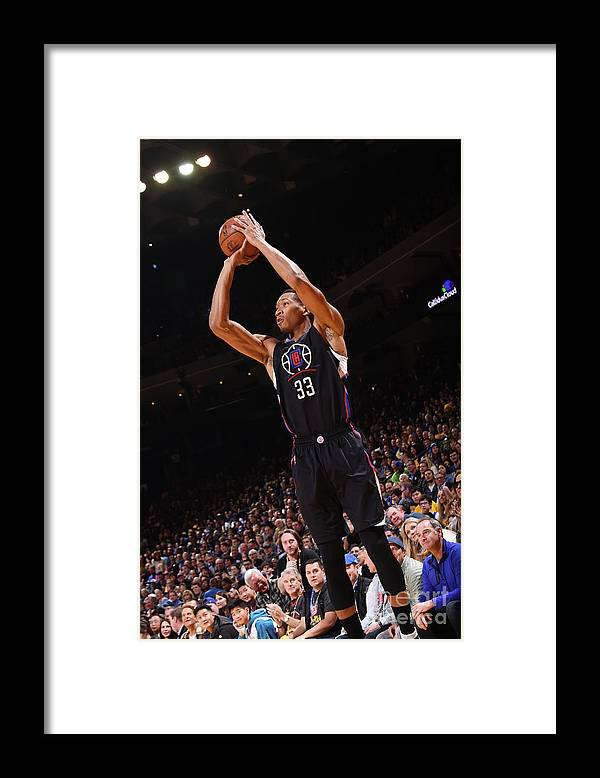Nba Pro Basketball Framed Print featuring the photograph Wesley Johnson by Noah Graham
