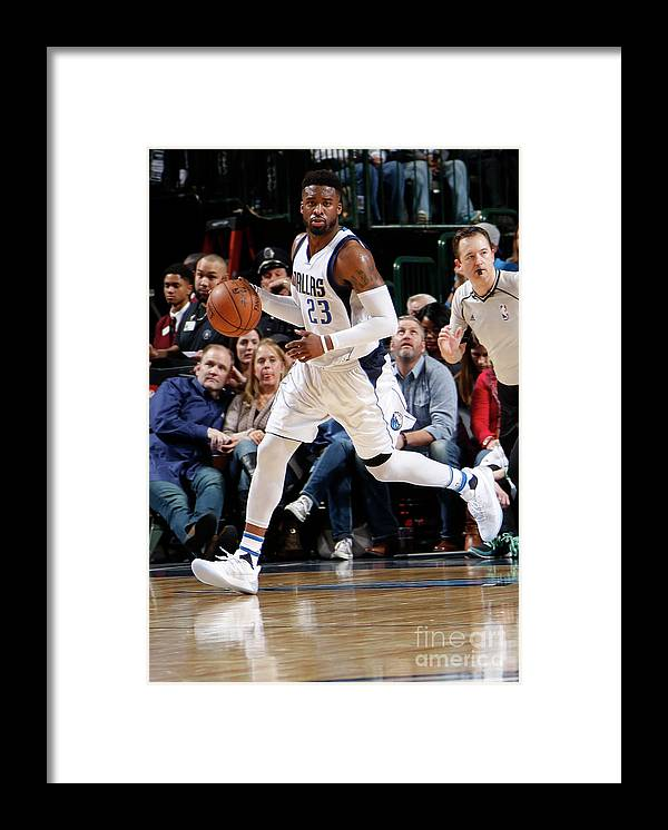 Nba Pro Basketball Framed Print featuring the photograph Wesley Matthews by Danny Bollinger