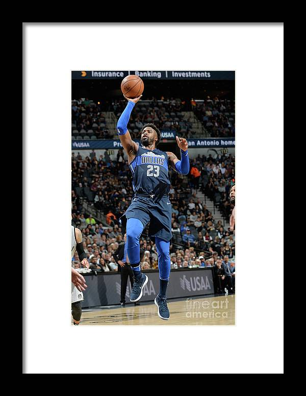Nba Pro Basketball Framed Print featuring the photograph Wesley Matthews by Mark Sobhani