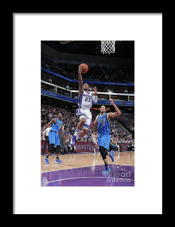Nba Pro Basketball Framed Print featuring the photograph Wesley Matthews by Rocky Widner