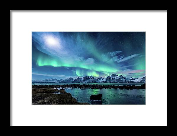 Moon Framed Print featuring the photograph When The Moon Shines by Tor-Ivar Naess