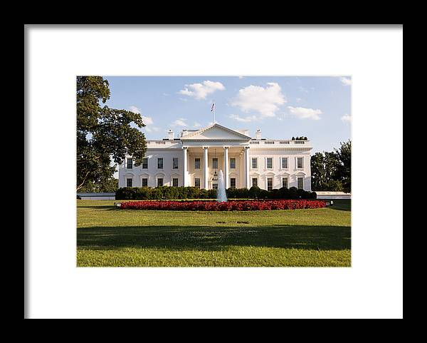 Architectural Column Framed Print featuring the photograph White House Washington DC by BackyardProduction