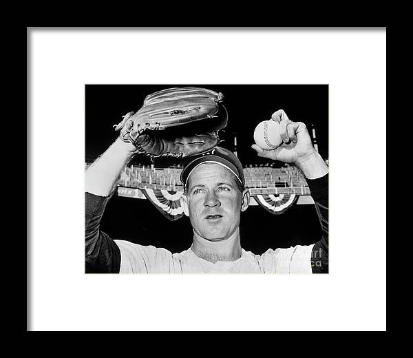 American League Baseball Framed Print featuring the photograph Whitey Ford by National Baseball Hall Of Fame Library