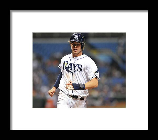 American League Baseball Framed Print featuring the photograph Wil Myers by Al Messerschmidt