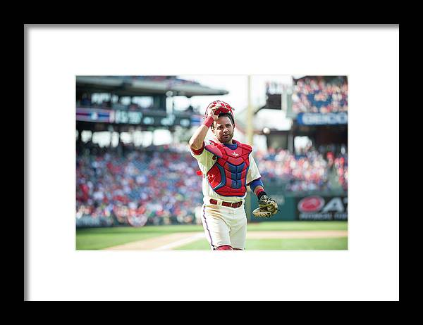 Citizens Bank Park Framed Print featuring the photograph Wil Nieves by Rob Tringali