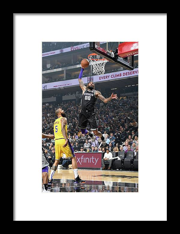 Nba Pro Basketball Framed Print featuring the photograph Willie Cauley-stein by Andrew D. Bernstein