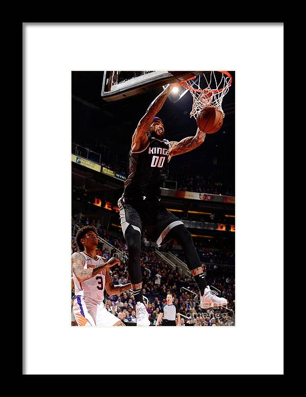 Nba Pro Basketball Framed Print featuring the photograph Willie Cauley-stein by Barry Gossage