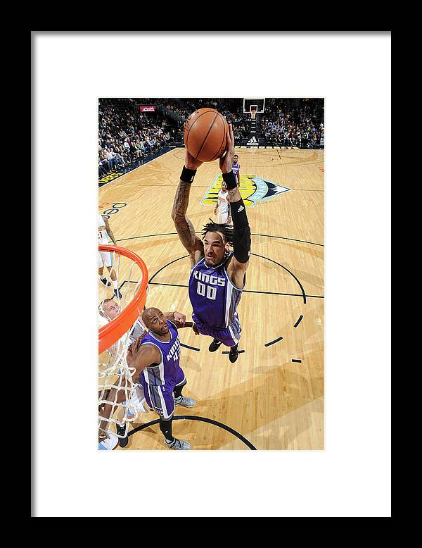 Nba Pro Basketball Framed Print featuring the photograph Willie Cauley-stein by Garrett Ellwood