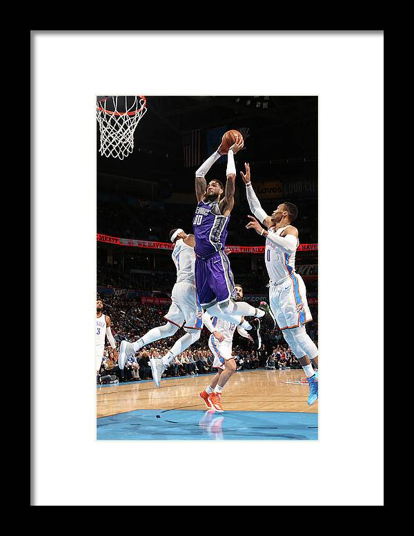 Nba Pro Basketball Framed Print featuring the photograph Willie Cauley-stein by Layne Murdoch