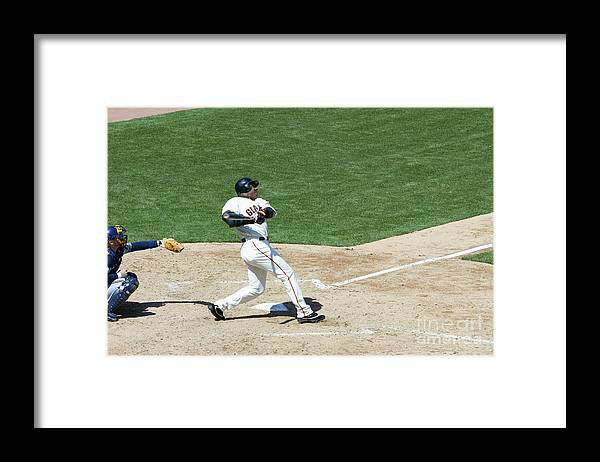 San Francisco Framed Print featuring the photograph Willie Mays and Barry Bonds by Jed Jacobsohn
