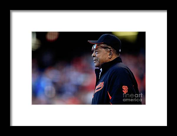 San Francisco Framed Print featuring the photograph Willie Mays by Jamie Squire