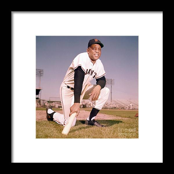 People Framed Print featuring the photograph Willie Mays by Kidwiler Collection