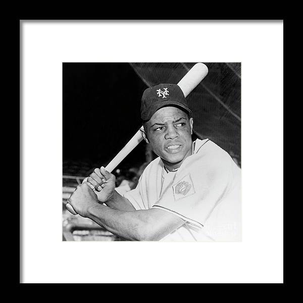 1950-1959 Framed Print featuring the photograph Willie Mays by National Baseball Hall Of Fame Library