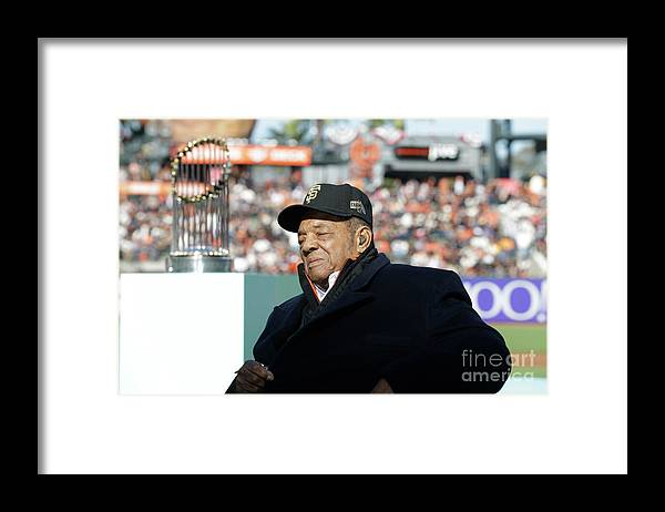 San Francisco Framed Print featuring the photograph Willie Mays by Pool