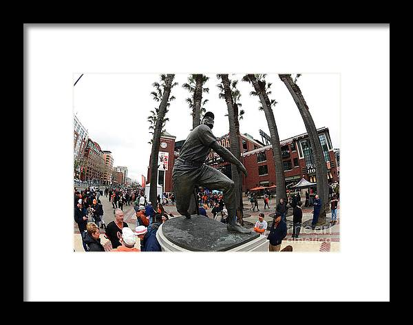 San Francisco Framed Print featuring the photograph Willie Mays by Thearon W. Henderson