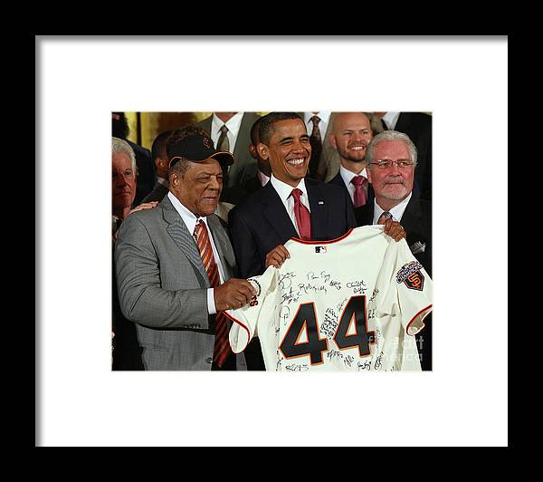 Event Framed Print featuring the photograph Willie Mays by Win Mcnamee