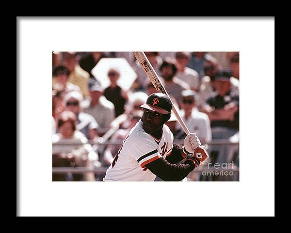 Candlestick Park Framed Print featuring the photograph Willie Mccovey by Mlb Photos