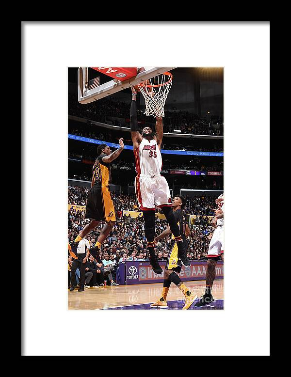 Nba Pro Basketball Framed Print featuring the photograph Willie Reed by Andrew D. Bernstein