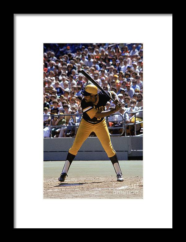 Sports Bat Framed Print featuring the photograph Willie Stargell by Mlb Photos