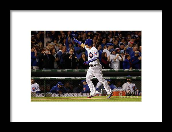 Second Inning Framed Print featuring the photograph Willson Contreras by Jamie Squire