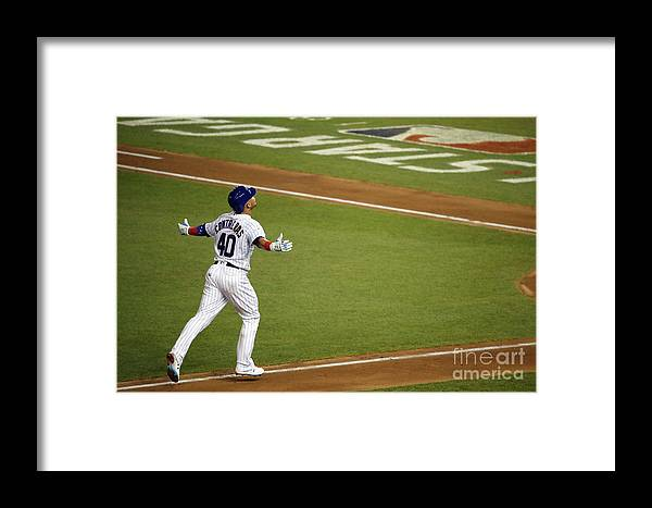 People Framed Print featuring the photograph Willson Contreras by Patrick Mcdermott