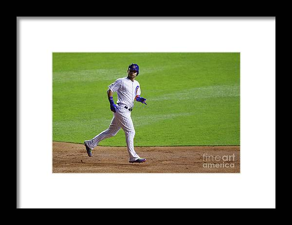 Second Inning Framed Print featuring the photograph Willson Contreras by Stacy Revere