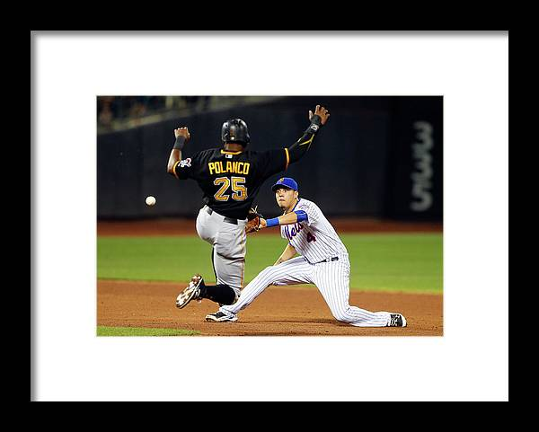 Double Play Framed Print featuring the photograph Wilmer Flores and Gregory Polanco by Jim Mcisaac