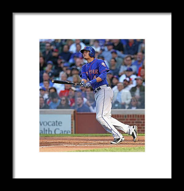 National League Baseball Framed Print featuring the photograph Wilmer Flores by Jonathan Daniel