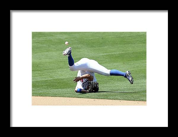 People Framed Print featuring the photograph Wilmer Flores by Stephen Dunn