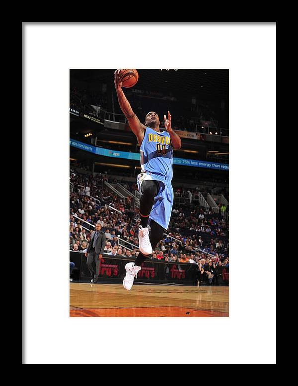 Nba Pro Basketball Framed Print featuring the photograph Wilson Chandler by Barry Gossage