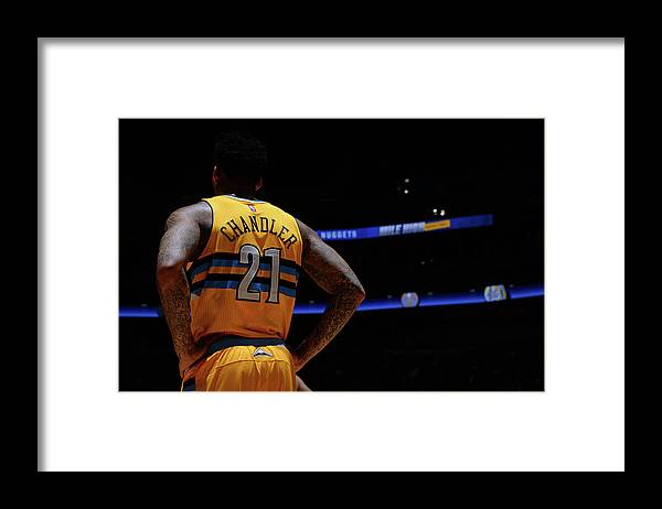 Nba Pro Basketball Framed Print featuring the photograph Wilson Chandler by Bart Young